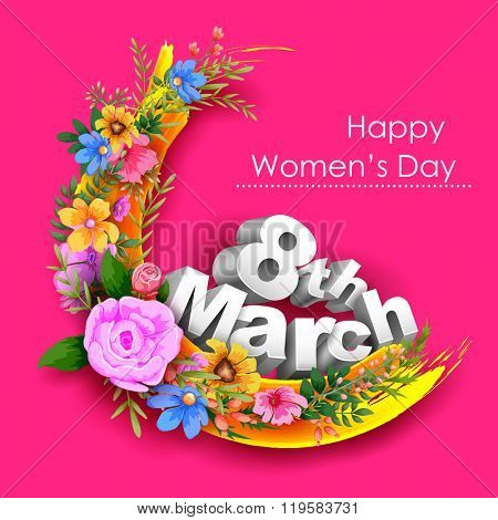 illustration of Happy Women's Day greetings background