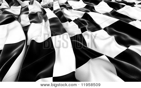 Checkered flag - 3D render