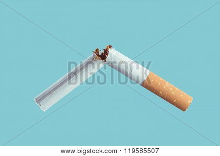 Cigarette Burning Close Up