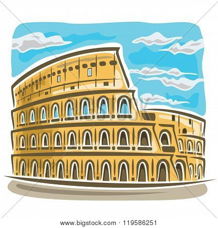 Vector illustration on the theme of Coliseum