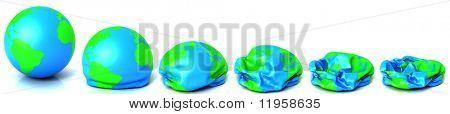 Earth deflating