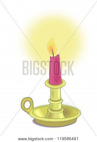 Candle in Candlestick.