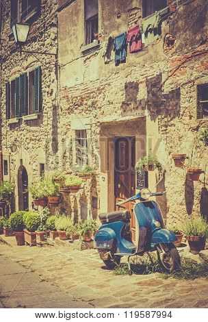 Scooter In Tuscany