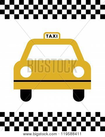 Vector Taxi Cab Graphic