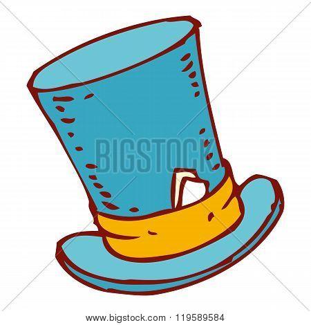 Blue Cylinder Hat