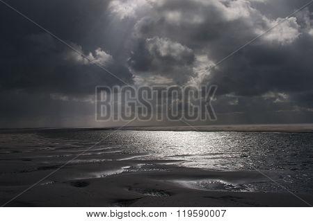 Stormy sea landscape