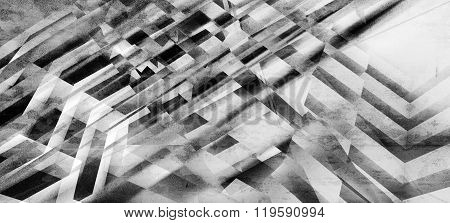 Background With Chaotic Intersected Stripes Pattern