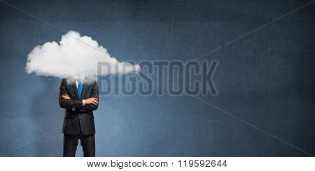 Cloud headed businessman