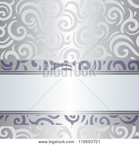 Violet & silver holiday vintage invitation design