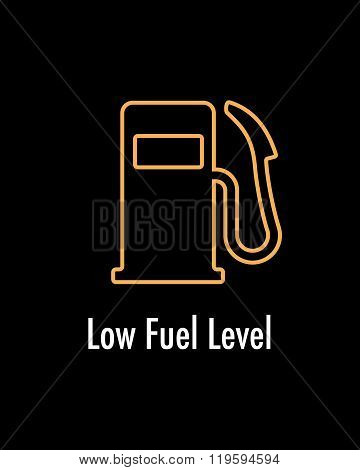 Vector Low Fuel Level Indicator