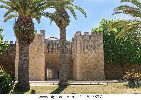 Castle In Silves, Old Moorish Capital Of Portugal. Algarve, Portugal