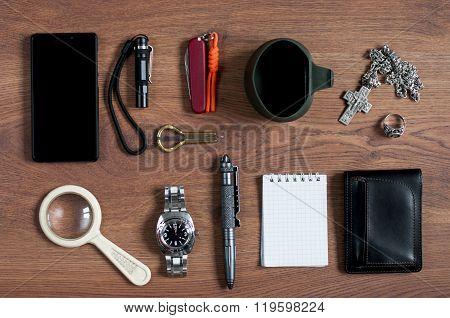 Flat Lay Men's  Accessories