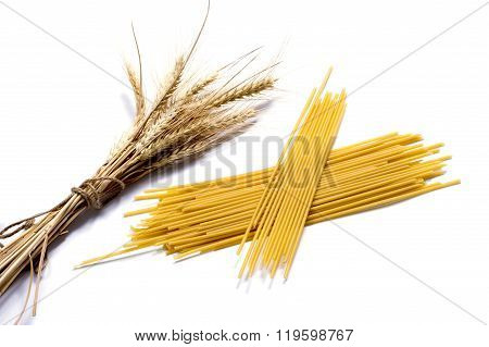 Ears Of Wheat And Two Linking Of Spaghetti