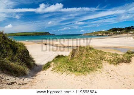 Beach At Daymer Bay Cornwall