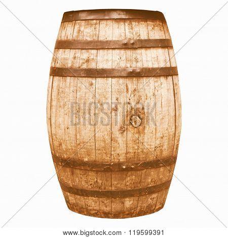 Wine Or Beer Barrel Cask Vintage