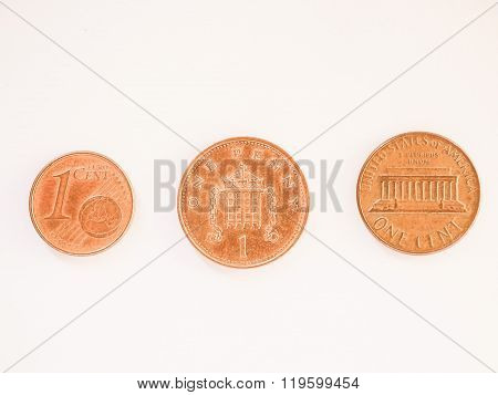 One Cent Coins Vintage