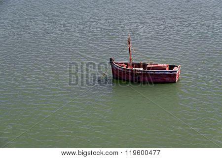 Fishing boat in El Jadida, Morocco, Africa