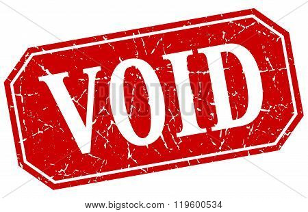 void red square vintage grunge isolated sign