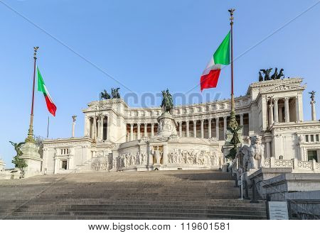 Venice Square And The Monument Of Victor Emmanuel