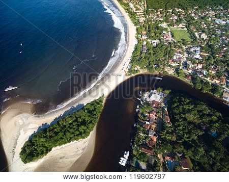 Top View of Barra do Una, Sao Paulo, Brazil
