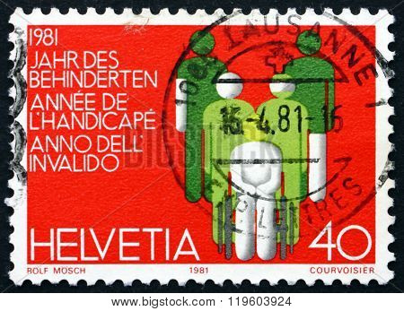 Postage Stamp Switzerland 1981 International Year Of Disabled