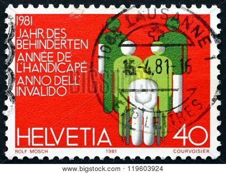 Postage Stamp Switzerland 1981 International Year Of Disabled