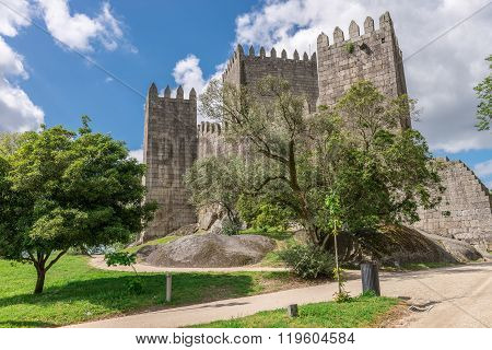 Castle In Guimaraes, Northern Of Portugal
