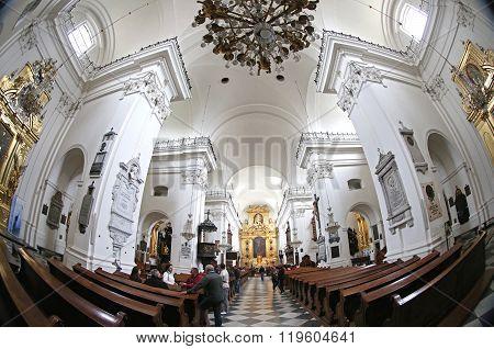 Church Of The Holy Cross (bazylika Swietego Krzyza) In Warsaw, Poland