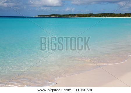 Crystal clear beach with nice blue water