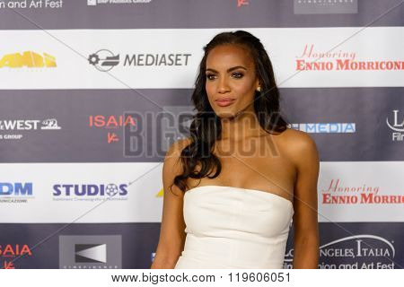 FEBRUARY 22, 2016: The actress and model Ciera Foster at the Los Angeles Italian Film Festival.