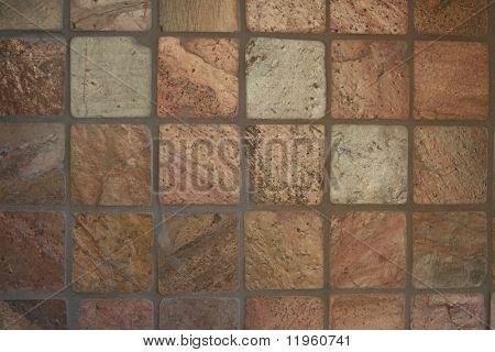 Tile wall used as a backsplash