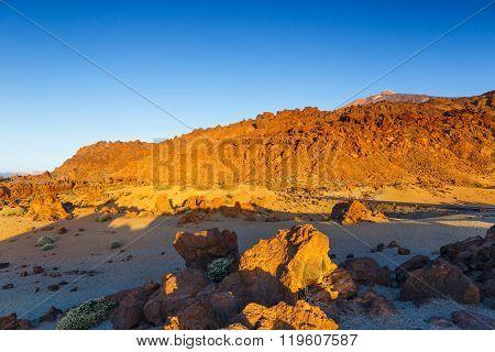 Sunrise In The Caldera Of El Teide Volcano, Tenerife, Spain