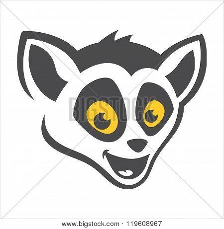Head Lemur Cartoon