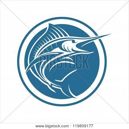 Marlin fish circle