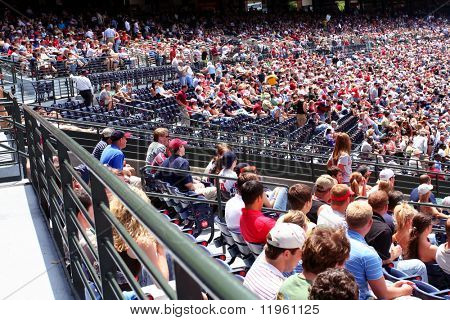 A crowd at a game