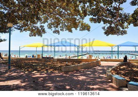 Foreshore and Shade Huts: Busselton, Western Australia