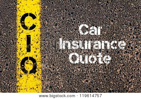 Business Acronym Ciq Car Insurance Quote