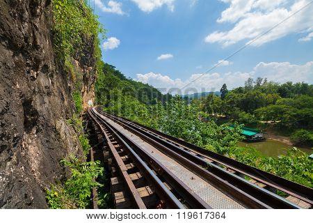 Death Railway Along The River Kwai At Kanchanaburi, Thailand