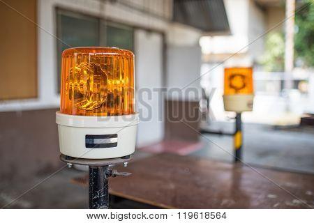 Revolving Lights As Warning