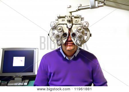 Patient At Ophthalmologist