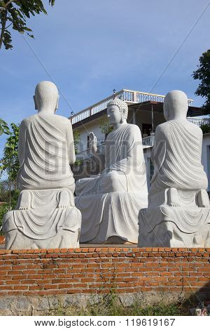 The Buddha preaches to his disciples. Phan Thiet, Vietn
