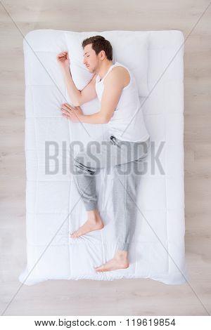 Nice man sleeping