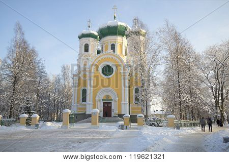 The Cathedral of St. Paul january day. Gatchina