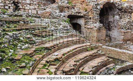 Odeon - Ancient Greek Theater Of Taormina, The Ruins
