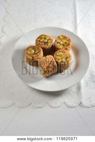 Middle eastern sweet dish - Baklawa.