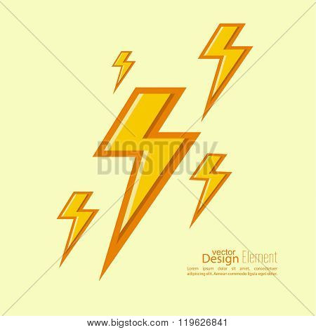 Abstract background with electric lightning.
