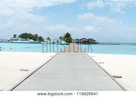 Overwater Bungalows Boardwalk