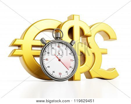Chronometer And Currency Symbols