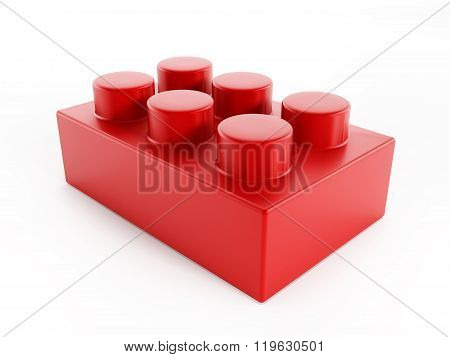 Red Building Block Toy Part