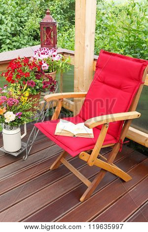 Reading corner time out on the terrace
